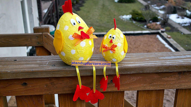 Kağıttan yapılmış Paskalya süsleri - çocuklar için kendin yap