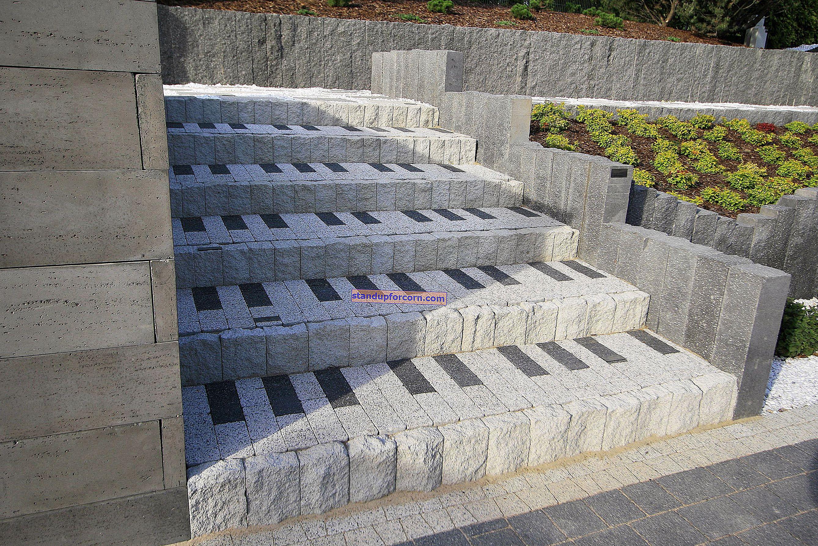 Kaldırım taşlarından merdiven nasıl yapılır? Adım adım + fotoğraflar