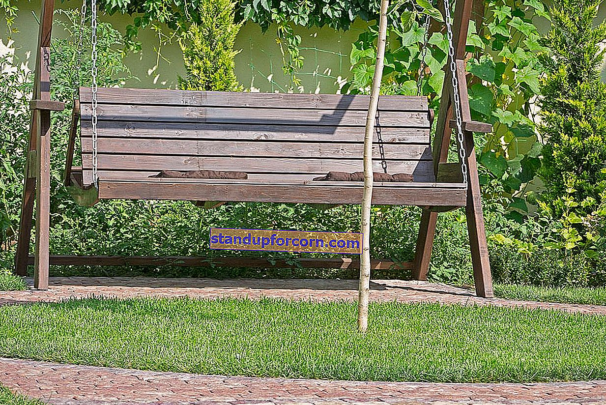 Ako vyrobiť záhradnú hojdačku z dreva?