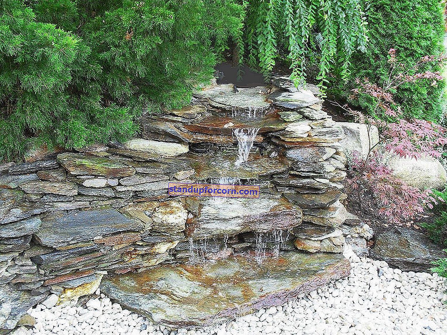 Vannkaskader i hagen